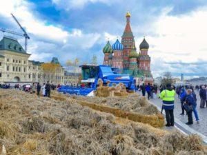Stroh auf dem Roten Platz in Moskau